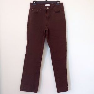 Coldwater Creek Straight Leg Brown Jeans